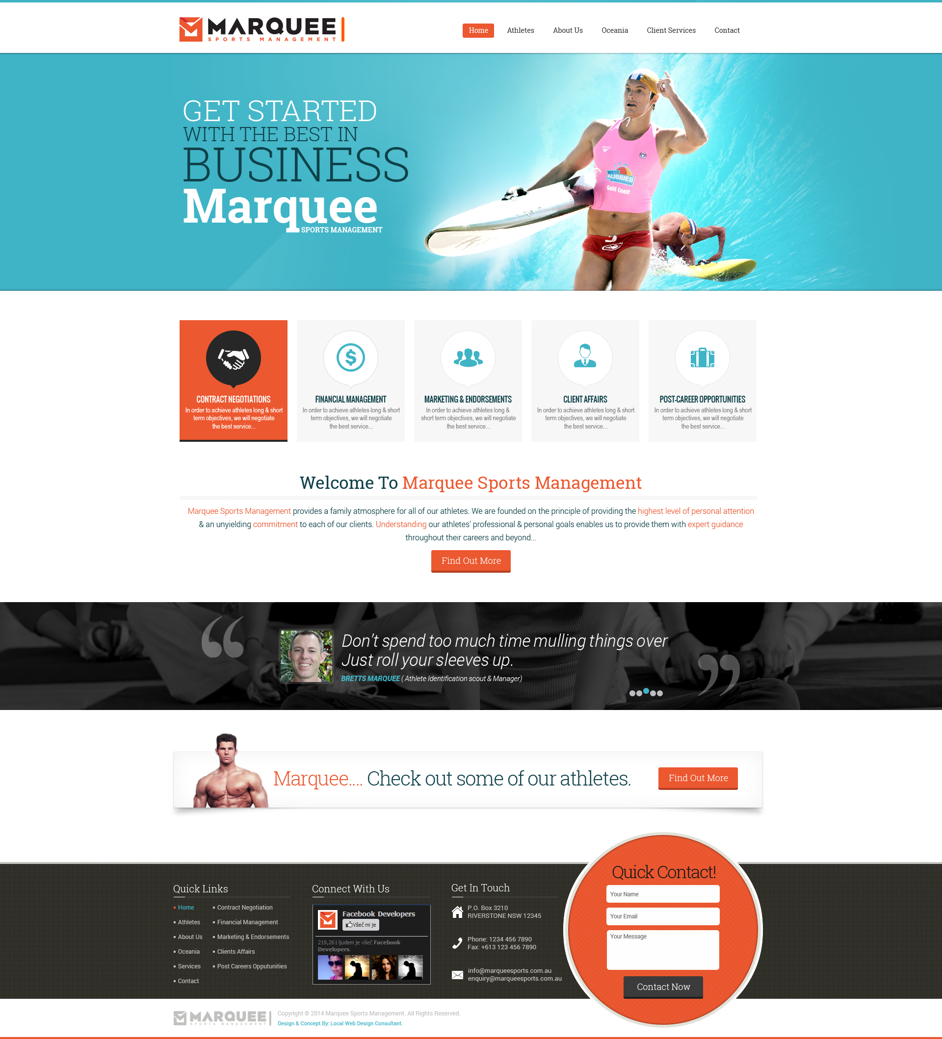 New website design development of marquee by local web for Web design consultant